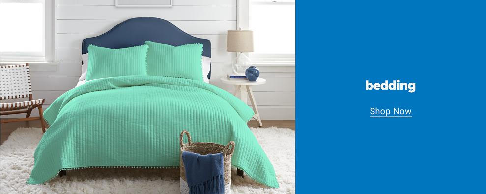 A mint bedding set featuring a tassel trim with matching pillow shams Bedding. Shop now.