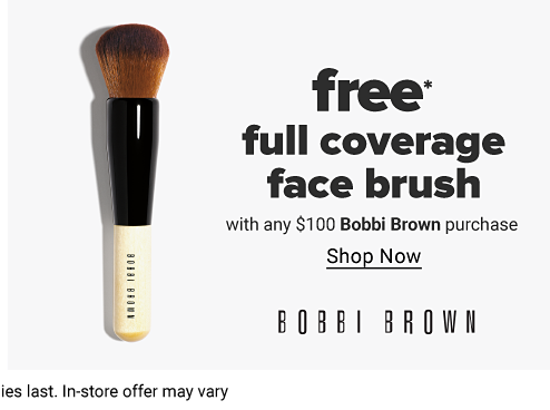 Makeup brush with an off white handle. Free full coverage face brush with any $100 Bobbi Brown purchase. Shop now. Bobbi Brown.