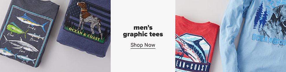 A variety of mens graphic tees in different colors and designs. Mens graphic tees. Shop now.