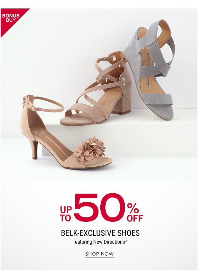 An assortment of women's sandals in a variety of colors & styles. Bonus Buy.