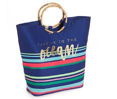 A multi colored beach tote. Shop beach tote.
