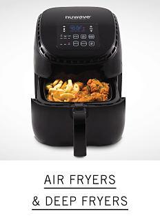 An air fryer frying food. Shop air fryers & deep fryers.