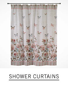 A floral shower curtain. Shop shower curtains.