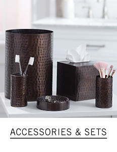 A bathroom set. Shop accessories and sets.