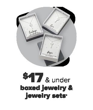 Boxed jewelry. $17 and under boxed jewelry and jewelry sets.