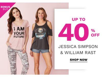 Bonus Buy - Up to 40% off Jessica Simpson & William Rast. Shop Now.