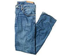 A pair of folded men's jeans. Jeans. Shop now.