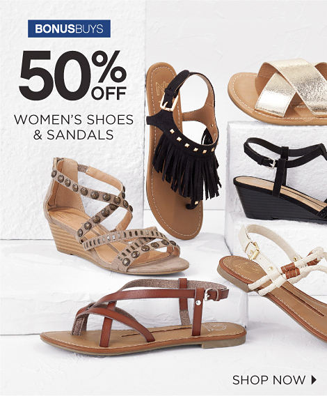 BONUSBUYS | 50% OFF WOMEN'S SHOES & SANDALS | SHOP NOW