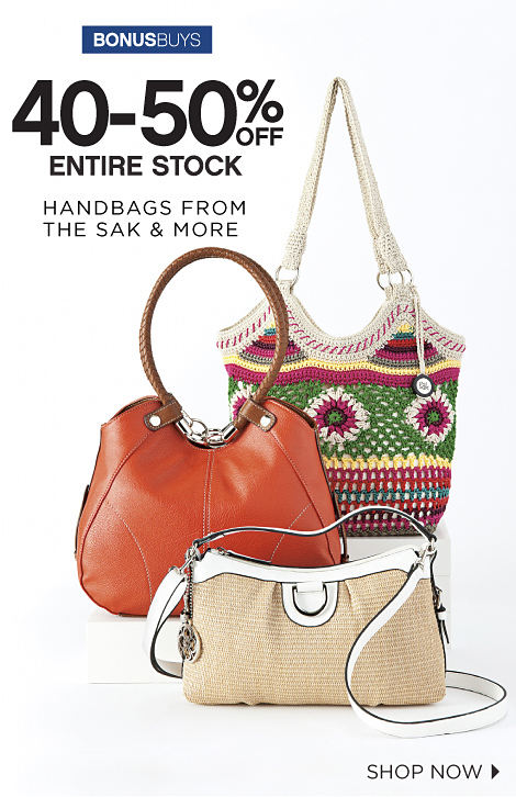 BONUSBUYS | 40-50% OFF ENTIRE STOCK HANDBAGS FROM THE SAK & MORE | SHOP NOW
