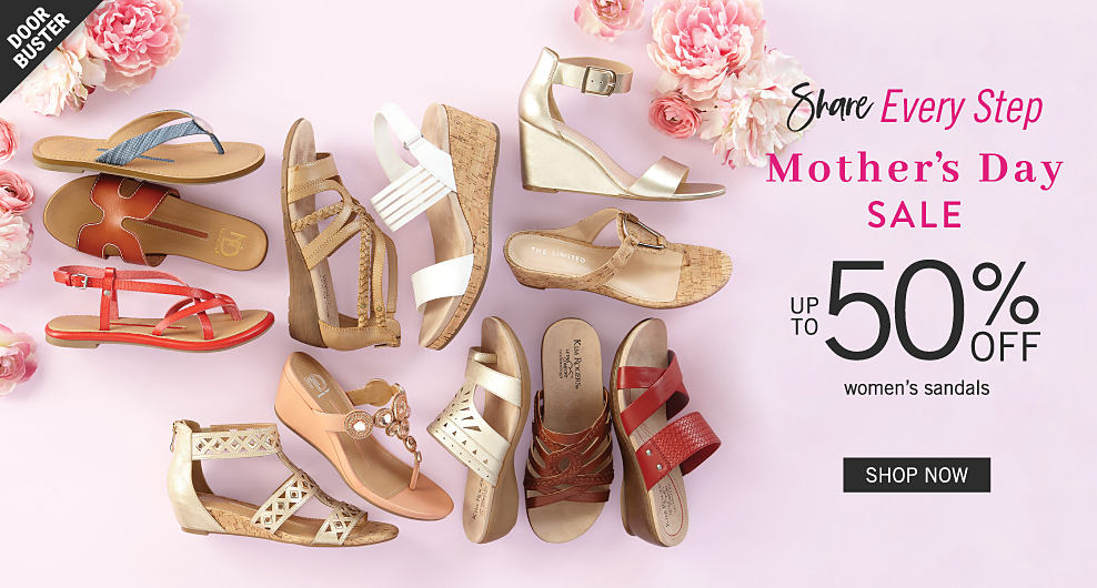 eb4620442cd3 ... sandals in a variety of colors   styles. Doorbuster. Share Every Step.  Mother s Day Sale. Up to 50% off women s