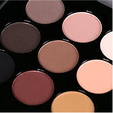 A variety of eye shadow colors. Shop eyes.