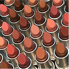Tubes of lipstick. Shop lips.