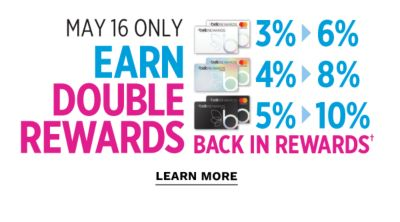 may 16 only | earn double rewards