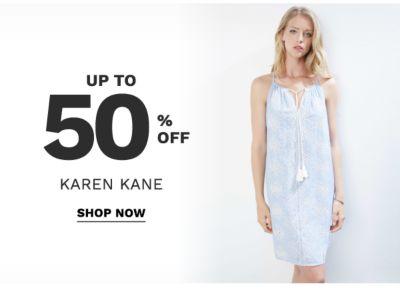 up to 50% off karen kane | shop now