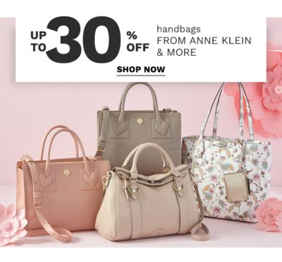 up to 30% off handbags  from anne klein & more | shop now