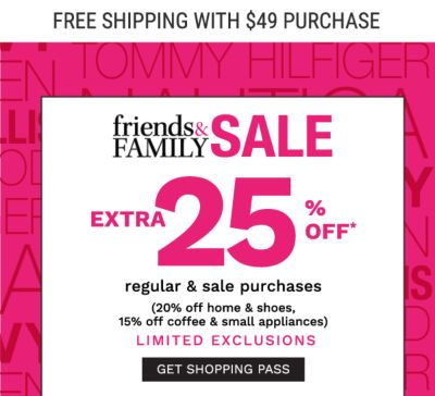 extra 25% off regular & sale purchases