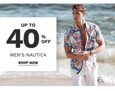 up to 40% off men's nautica | shop now