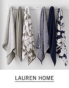 An assortment of towels in a variety of colors & styles. Shop Lauren Home.