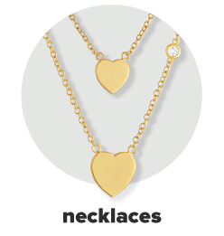 Two gold necklaces with heart pendants. Necklaces.