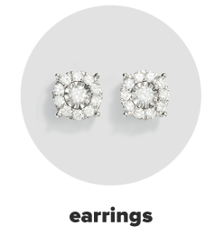 A pair of diamond earrings. Earrings.