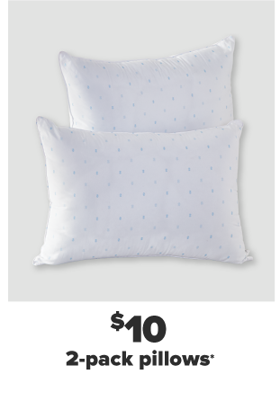 Two white pillows. $10 two pack pillows.