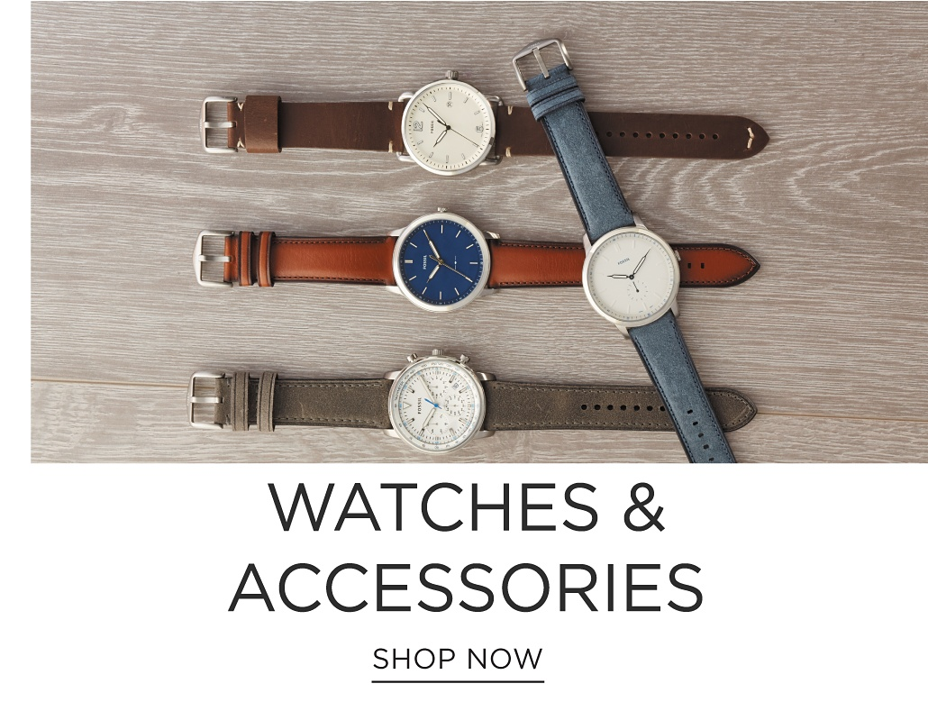 An assortment of men's watches in a variety of colors & styles. Watches & Gadgets. Shop now.