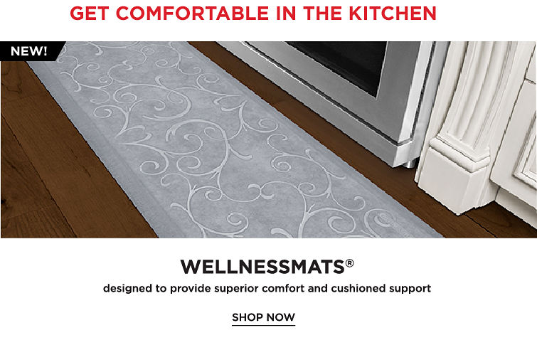 Get Comfortable In The Kitchen | WellnessMats | Shop Now