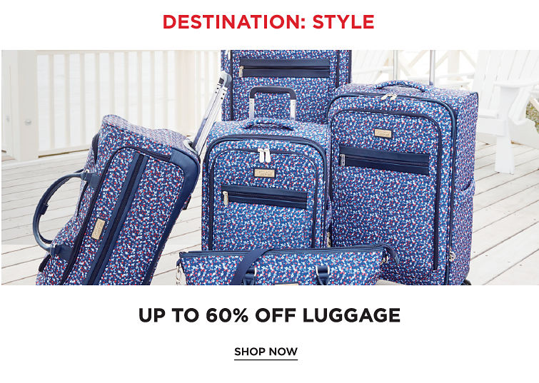 Destination Style | Up To 60Percent Off Luggage | Shop Now