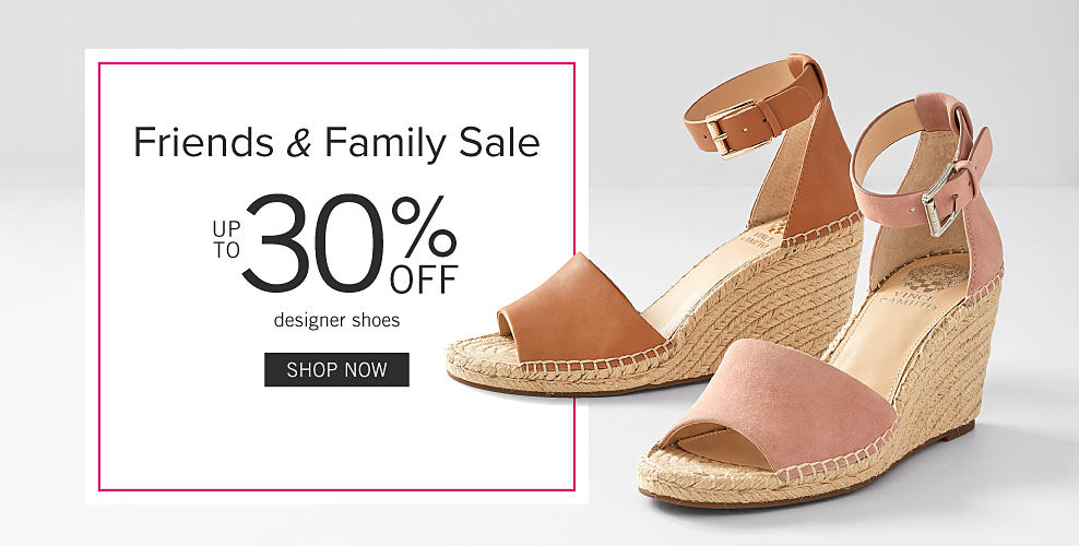 f3717ef9e194 A pair of women s peach suede wedge sandals. Friends   Family Sale. Up to