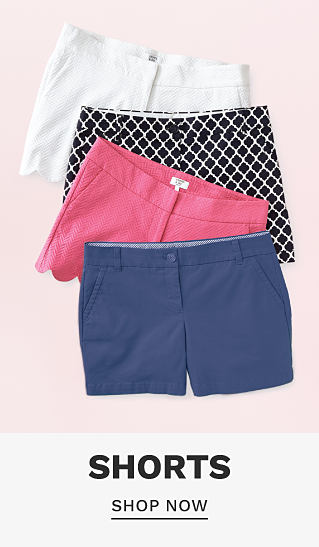 An assortment of women's shorts in a variety of colors & prints. Shorts. Shop now.