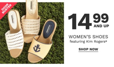 14.99 and up women's shoes featuring Kim Rogers
