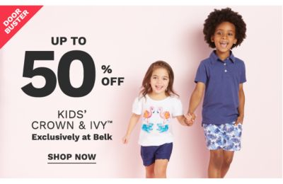 up to 50% off kids' crown & ivy exclusively at belk | shop now
