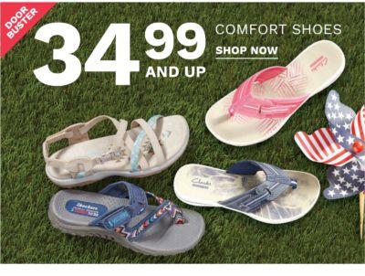 Doorbuster - 24.99 and up comfort shoes. Shop now.