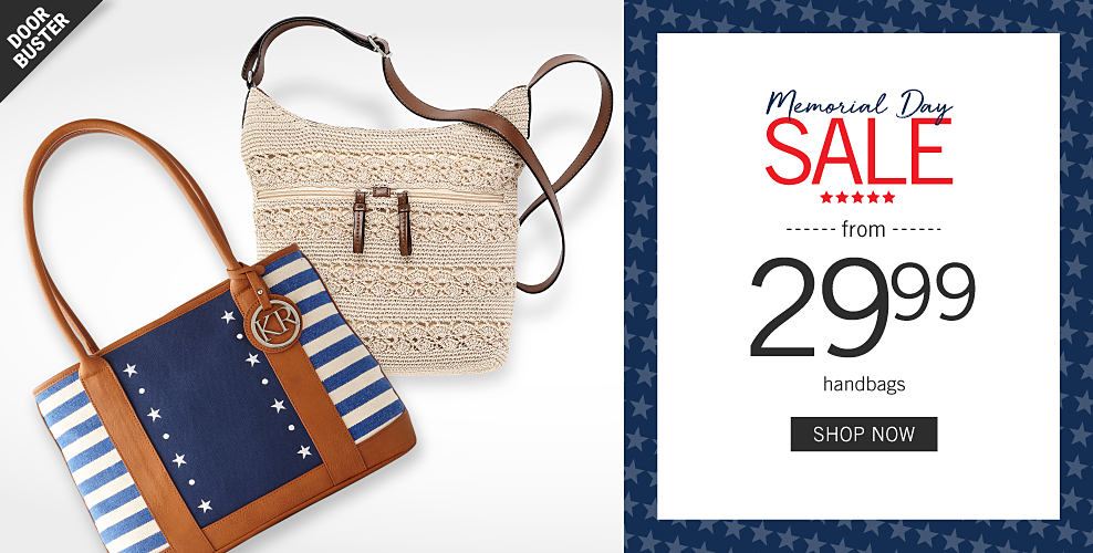 b1ccbd29ed58b A blue   white horizontal striped handbag with a solid blue middle panel  with white stars