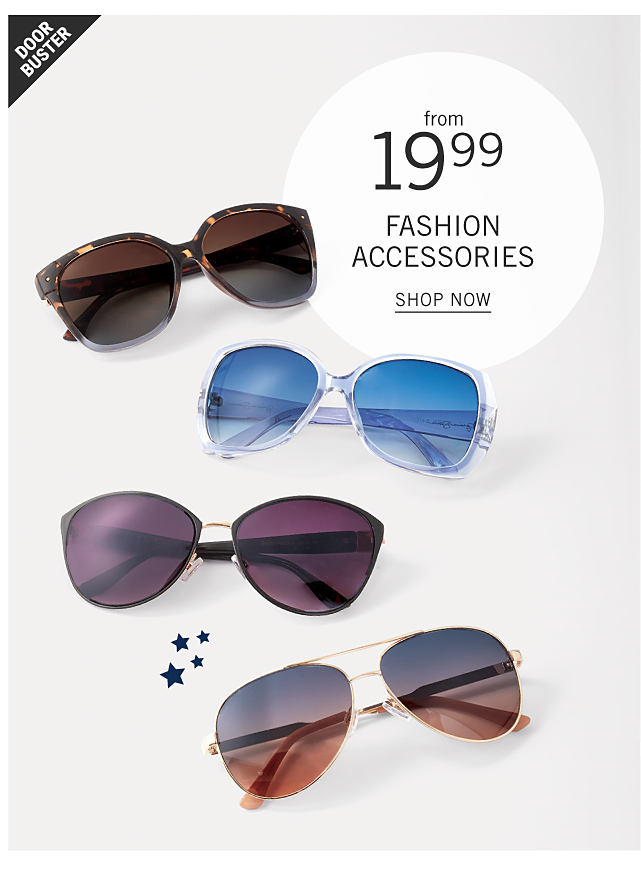 b827191e09a90 An assortment of women s sunglasses in a variety of colors   styles.  Doorbuster. From