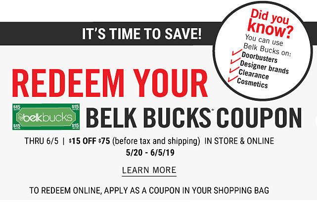 9b87339695c Did you know you can use Belk Bucks on Doorbusters
