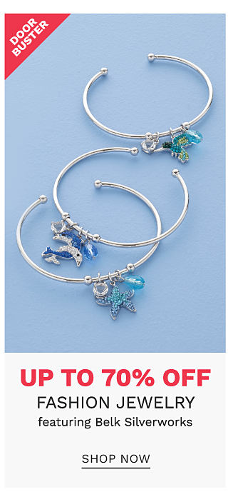 An assortment of nautical themed charm bracelets. DoorBuster. Up to 70% off fashion jewelry featuring Belk Silverworks. Shop now.