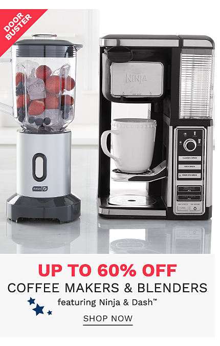 A Ninja blender full of fruit & a Dash coffee maker. DoorBuster. Up to 60% off coffee makers & belnders featuring Ninja & Dash. Shop now.