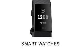 A black smart watch. Shop smart watches.