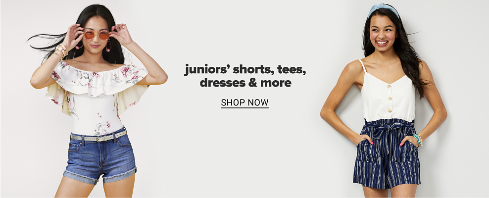 Juniors' shorts. tees, dresses & more. Shop now.