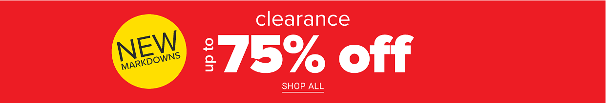 Clearance. Up to 75% off. Shop now.