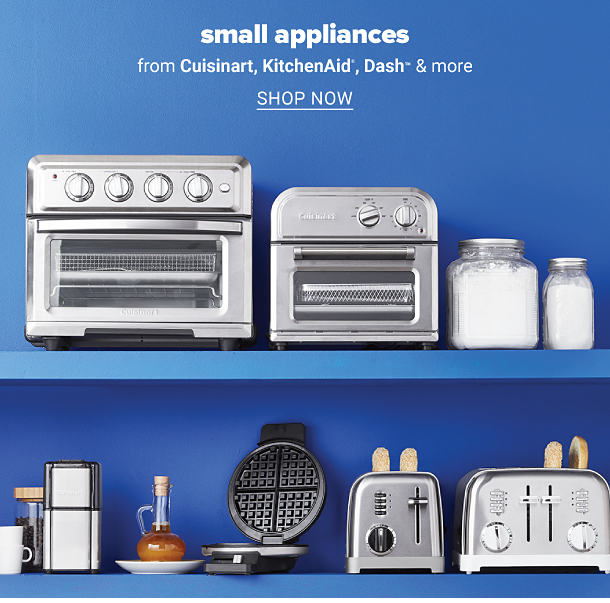 A variety of small kitchen appliances. Small appliances from Cuisinart, KitchenAid, Dash and more, shop now.
