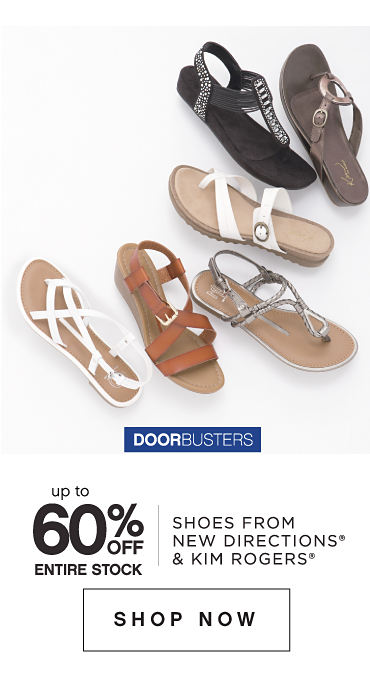 Bonus Buys | up to 60% Off Entire Stock | Shoes from New Directions® & Kim Rogers® | Shop Now