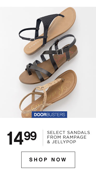 Bonus Buys | 14.99 Select Sandals From Rampage & Jellypop | Shop Now