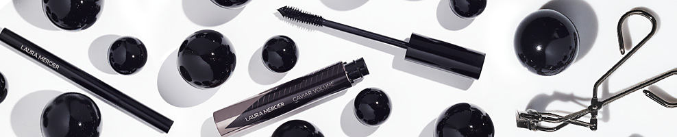 A variety of makeup tools and products.