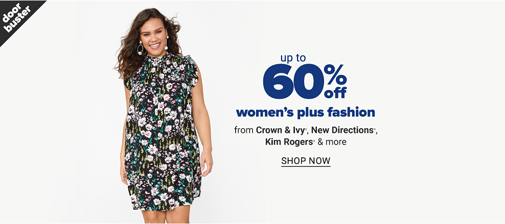 Up to 60% off women's plus fashion from Crown & Ivy, New Directions, Kim Rogers and more. Shop now.