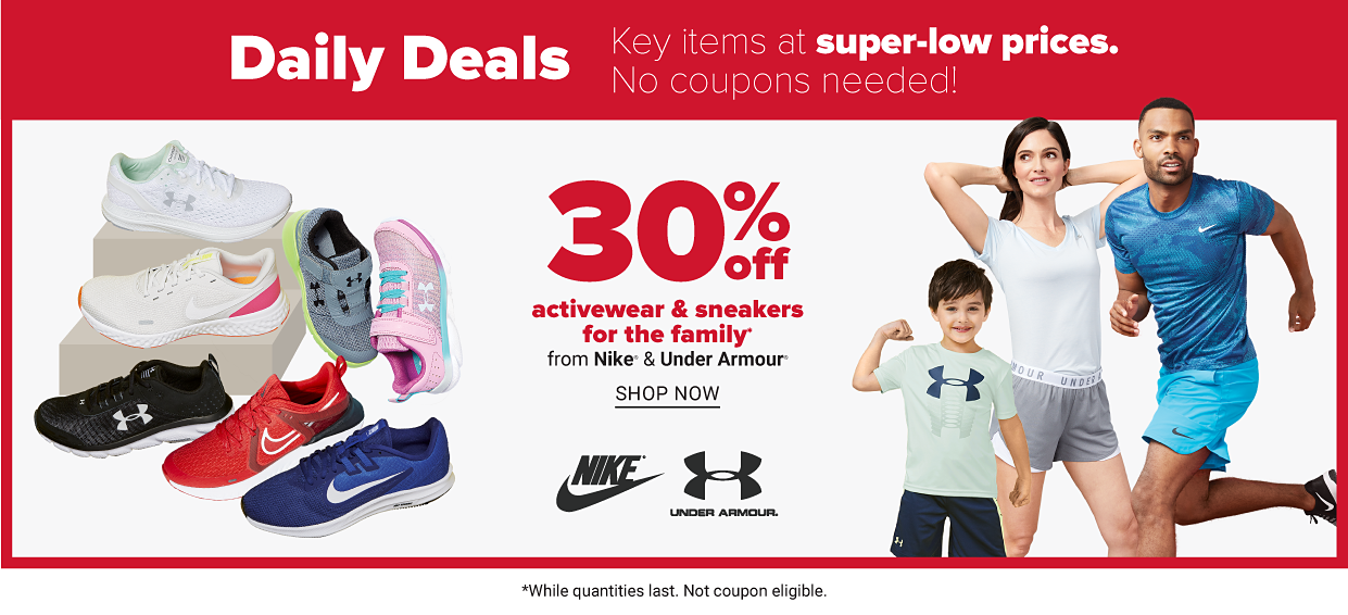30% off activewear & sneakers for the family.