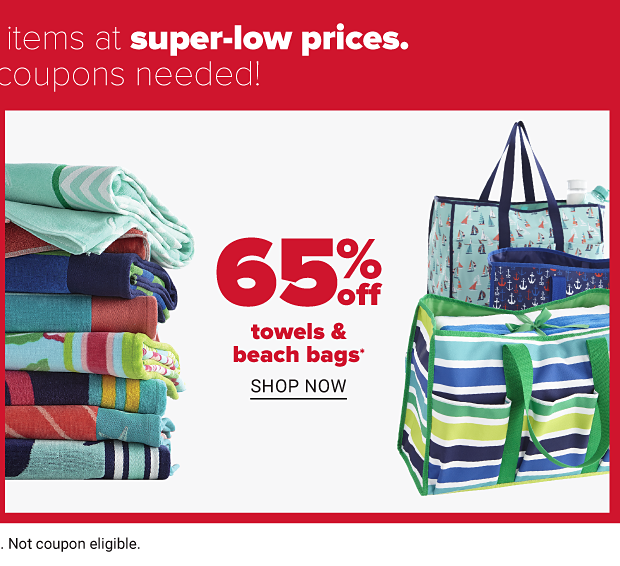 65% off towels & beach bags. Shop now.