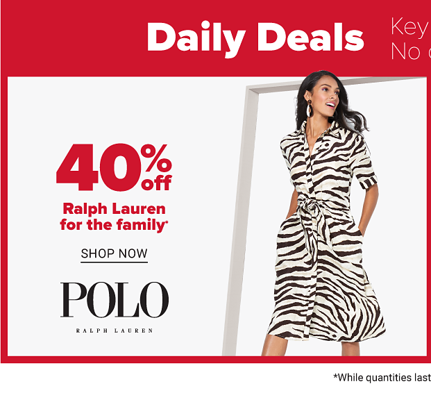 40% off Polo Ralph Lauren for the family. Shop now.