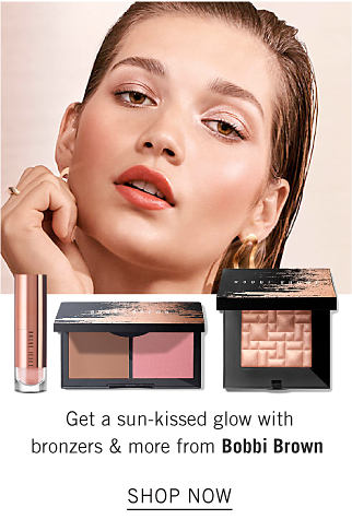 A model wearing Bobbi Brown make up. Get a sun kissed glow with bronzers and more from Bobbi Brown. Shop now.